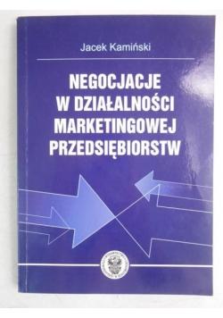 Negocjacje w działalności marketingowej przedsiębiorstw