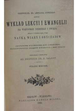 Wykład lekcyi i ewangelii, 1905 r.