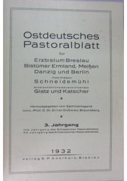 Ostdeutsches pastoralblatt, 1932 r.