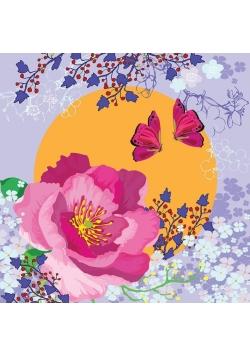 Karnet Swarovski kwadrat CL0703 Kwiaty