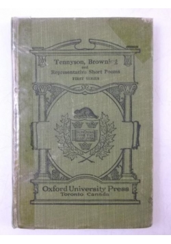 Tennyson Browning and Representative Short Poems, 1931 r.
