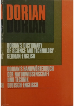 Dorian's dictionary of science and technology German - English