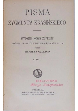 Pisma Zygmunta Krasińskiego, 1907r
