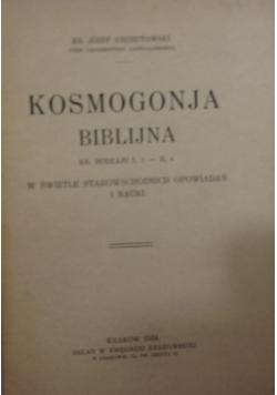 Kosmogonja Biblijna, 1934 r.