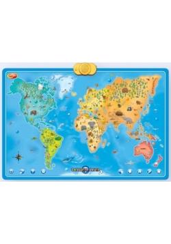 Interaktywna mapa świata zwierzęta