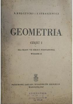 Geometria, część 1, 1947 r.