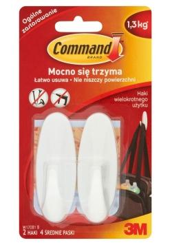 Haczyki Command wielokrotnego użytku wodoodporne białe