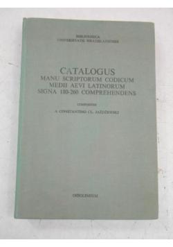 Catalogus Manu Scriptorum Codicum Medii Aevi Latinorum Sigma 180-260 Comprehendens