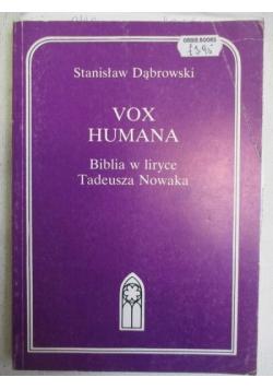 Vox humana. Biblia w liryce Tadeusza Nowaka