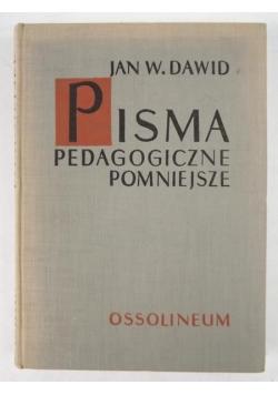 Dawid Jan Władysław - Pisma pedagogiczne pomniejsze