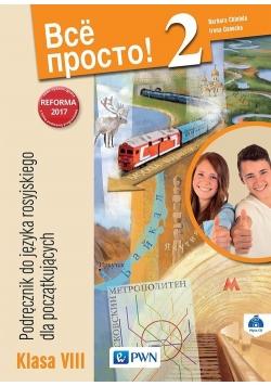 Wsio Prosto! 2 Podręcznik do języka rosyjskiego dla początkujących 8 + CD