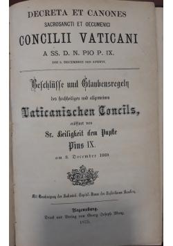 Concilii Vaticani, 1875 r.