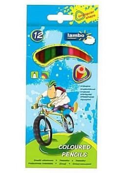 Kredki szkolne trójkątne 12 kolorów LAMBO