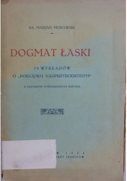 Dogmat łaski, 1924 r.