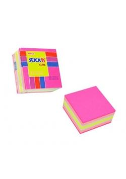 Notes kostka różowa - mix neon i pastel.