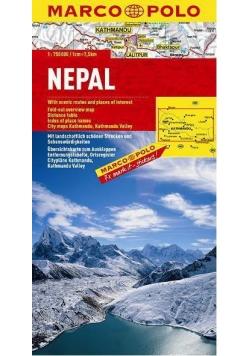 Mapa Drogowa Marco Polo. Nepal 1:750 000