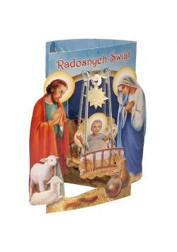 Karnet składany 3D - Radosnych Świąt (wz 6358)