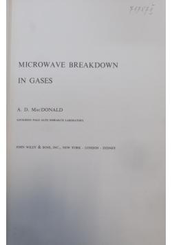 Microwave breakdown in gases