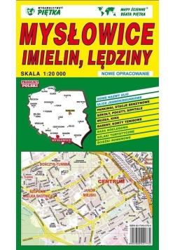Mysłowice, Imielin, Lędziny 1:20 000 plan miasta