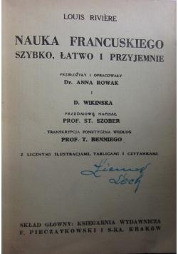 Nauka Francuskiego, szybko, łatwo i przyjemnie. ok. 1945-47 r.