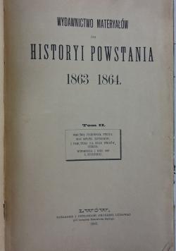 Wydawnictwo materyałów do historyi powstania 1863-1864, Tom II, 1890r.