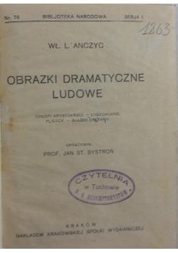 Obrazki dramatyczne ludowe, 1924 r.