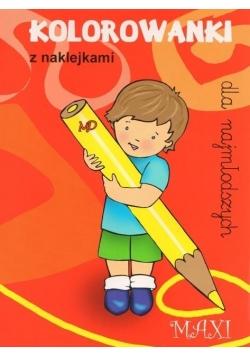 Kolorowanki dla najmłodszych z naklejkami - MAXI 5