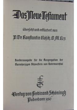 Das neue testament, 1936 r.