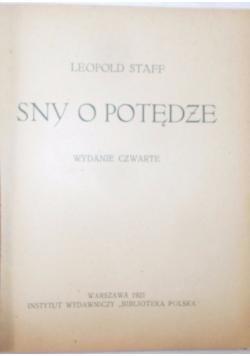 Sny o potędze, 1921 r.