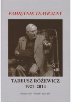 Pamiętnik teatralny - Tadeusz Różewicz 1921-2014