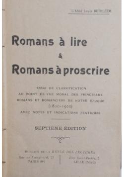 Romans a lire & Romans a proscrire 1908 r.