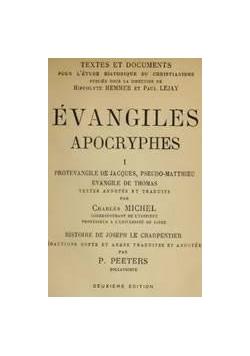 Evangiles Apocryphes, 1914 r.