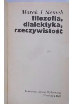 Filozofia, dialektyka, rzeczywistość