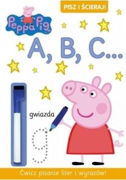 Świnka Peppa. Pisz i ścieraj! A, B, C...
