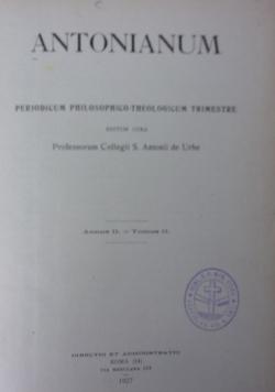Antonianum, 1927 r.