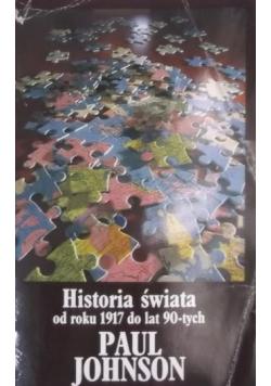 Historia świata od roku 1917 do lat 90-tych