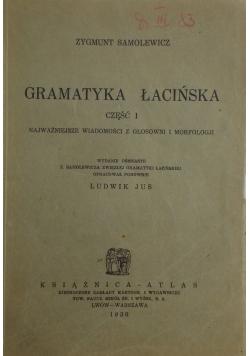 Gramatyka Łacińśka , 1930 r.