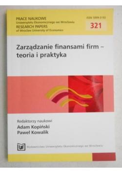 Zarządzanie finansami firm-teoria i praktyka