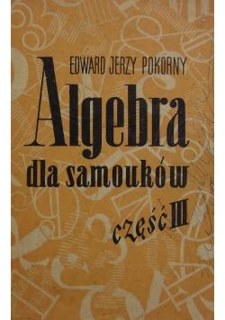 Algebra dla samouków, część III