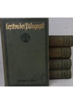Lexikon der Padagogik I - V-, Ok. 1919 r.