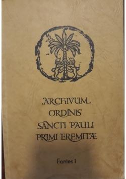 Archivum ordinis sancti Pauli primi eremitae