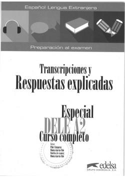 Especial DELE A2 curso completo klucz