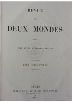 Revue des Deux Mondes, 1865 r.