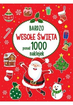 Bardzo wesołe Święta ponad 1000 naklejek