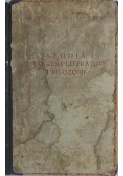 Studia z zakresu literatury i filozofii, 1925 r.