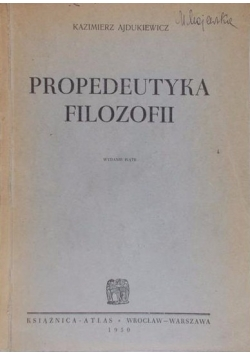 Propedeutyka filozofii, 1948 r.