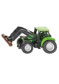 Siku 13 - Traktor ze szczypcami do drewna S1380