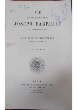 Joseph Barrelle, 1910 r., tom 1