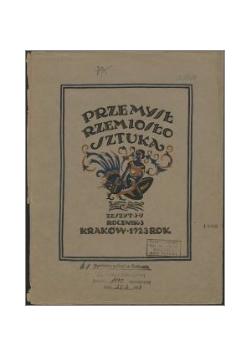 Przemysł, rzemiosło, sztuka, 1923 r.