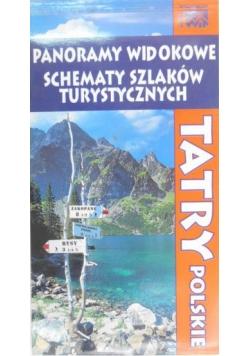 Tatry polskie. Panoramy widokowe . Schematy szlaków turystycznych.